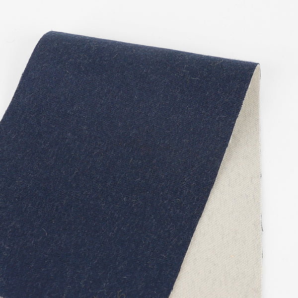Japanese Reversible Wool / Silk Coating - Marine / Chalk