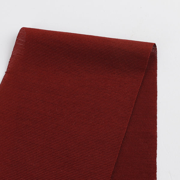Micro Self Stripe Merino / Poly - Maroon
