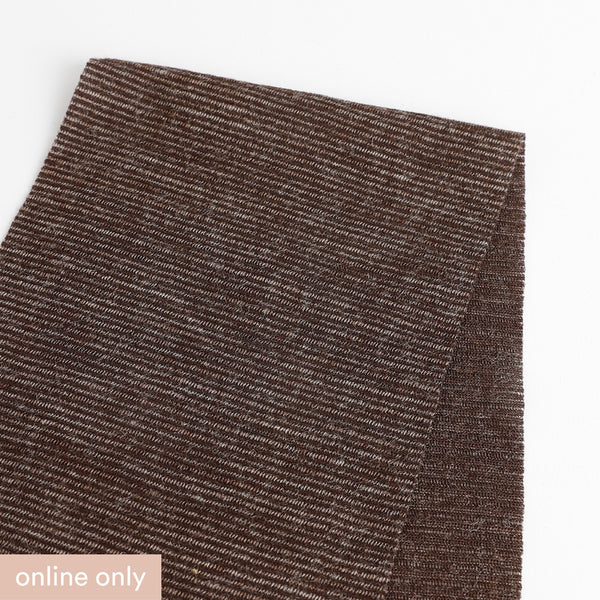 Needle Stripe Merino Blend Jersey - Chocolate