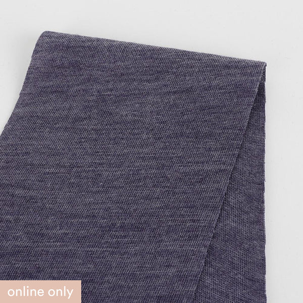 Merino / Poly Diagonal Marle Jersey - Dark Heather