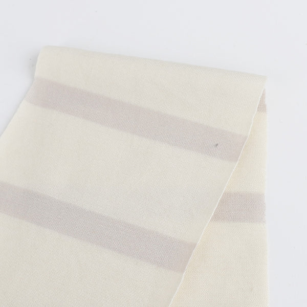 Merino Jersey Stripe - Mushroom - Buy online at The Fabric Store