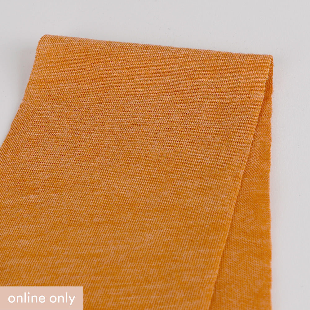 Merino / Poly Diagonal Marle Jersey - Clementine