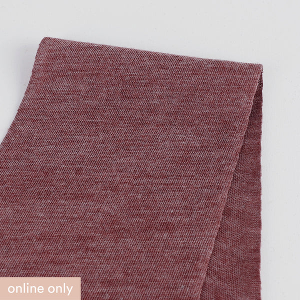 Related product : Merino / Poly Diagonal Marle Jersey - Plum