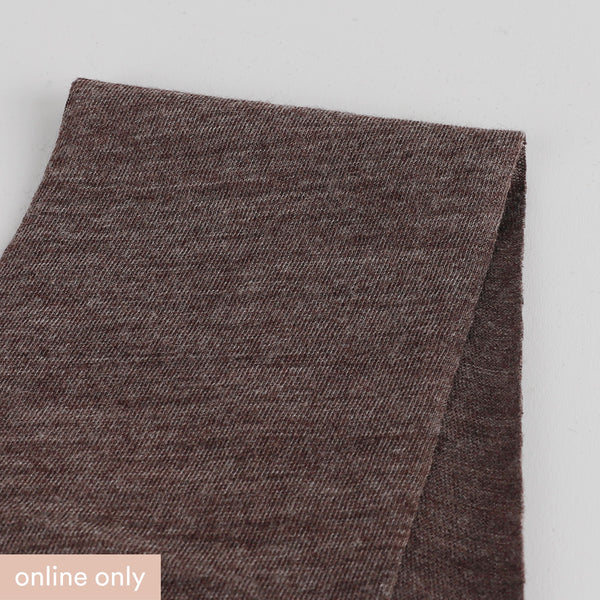 Related product : Merino / Poly Diagonal Marle Jersey - Raisin