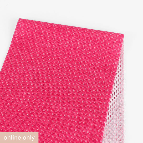 Merino / Poly Honeycomb Activewear - Hot Pink