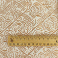 Metallic Silk Jacquard - Bronze / Ecru - buy online at The Fabric Store