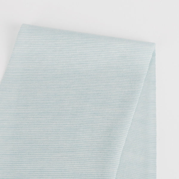 Micro Self Stripe Merino / Cotton - Baby Blue