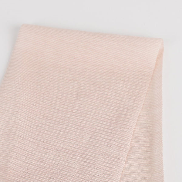 Micro Self Stripe Merino / Cotton - Baby Pink