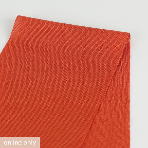 Micro Self Stripe Merino / Poly - Burnt Orange