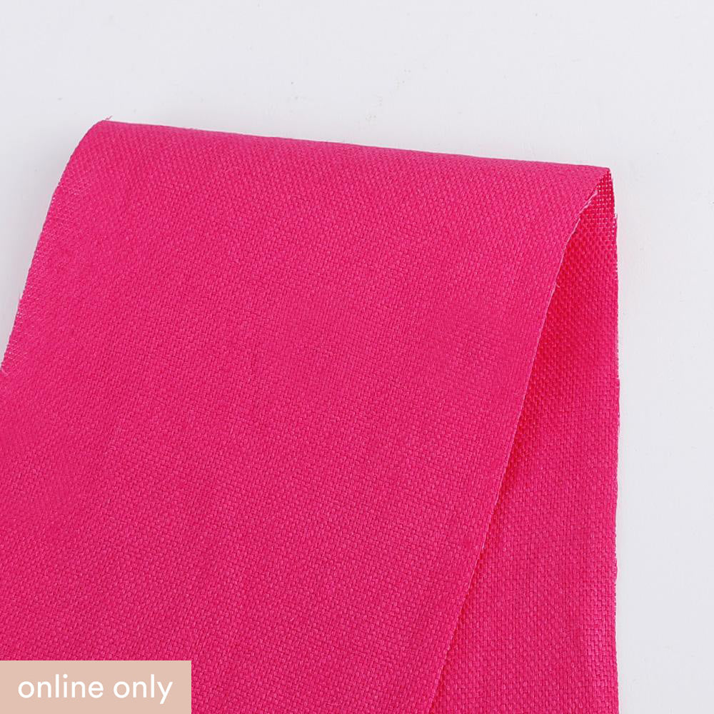 Micro Basketweave Linen - Hot Pink