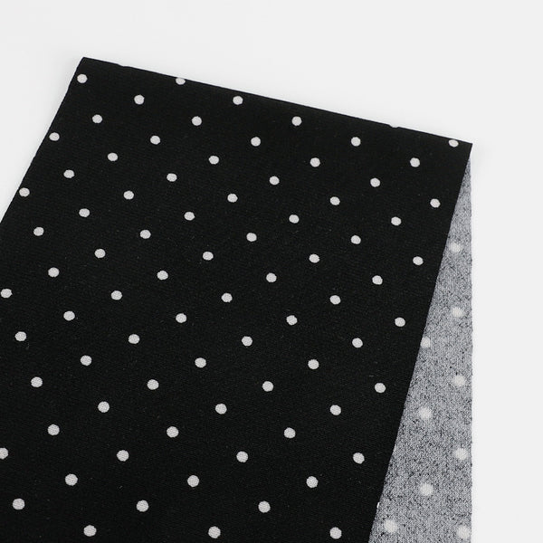 Mini Polka Dot Print Jersey - Black