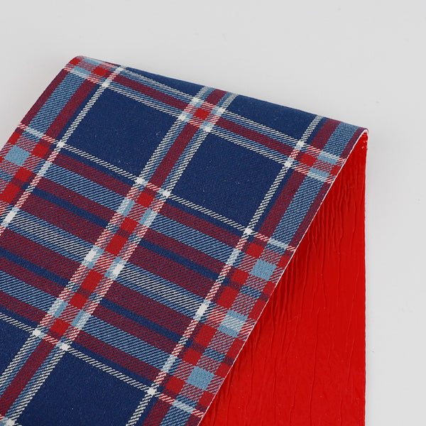 PVC Bonded Tartan Cotton - Red