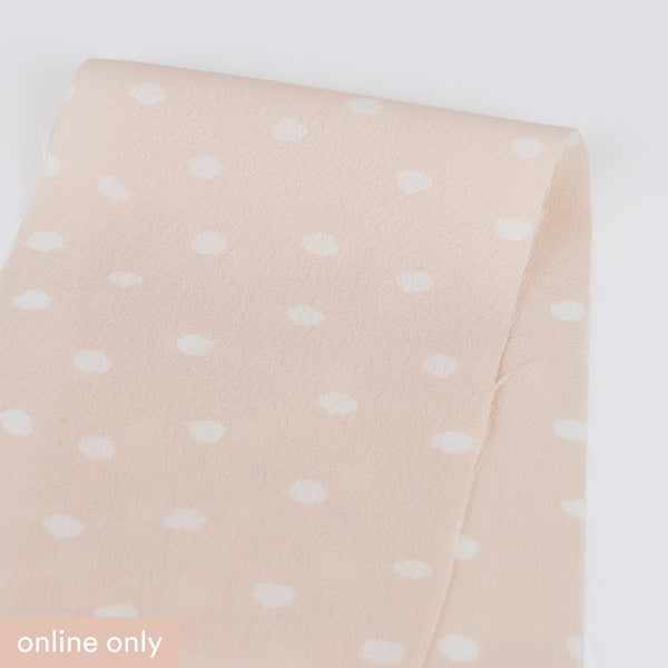 Painted Polka Dot Rayon Crepe - Shell