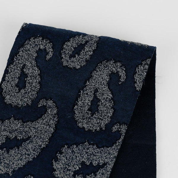 Paisley Knit Jacquard - Midnight - buy online at The Fabric Store