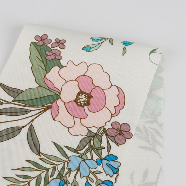 Peony Bouquet Stretch Cotton - Spring