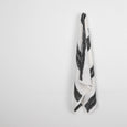 Photogram Stripe Stretch Silk - Ivory / Black