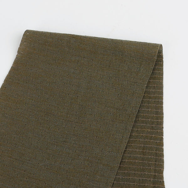 Pindot Merino Blend Jersey - Army - buy online at The Fabric Store