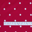 Polka Dot Viscose Georgette - Fuschia