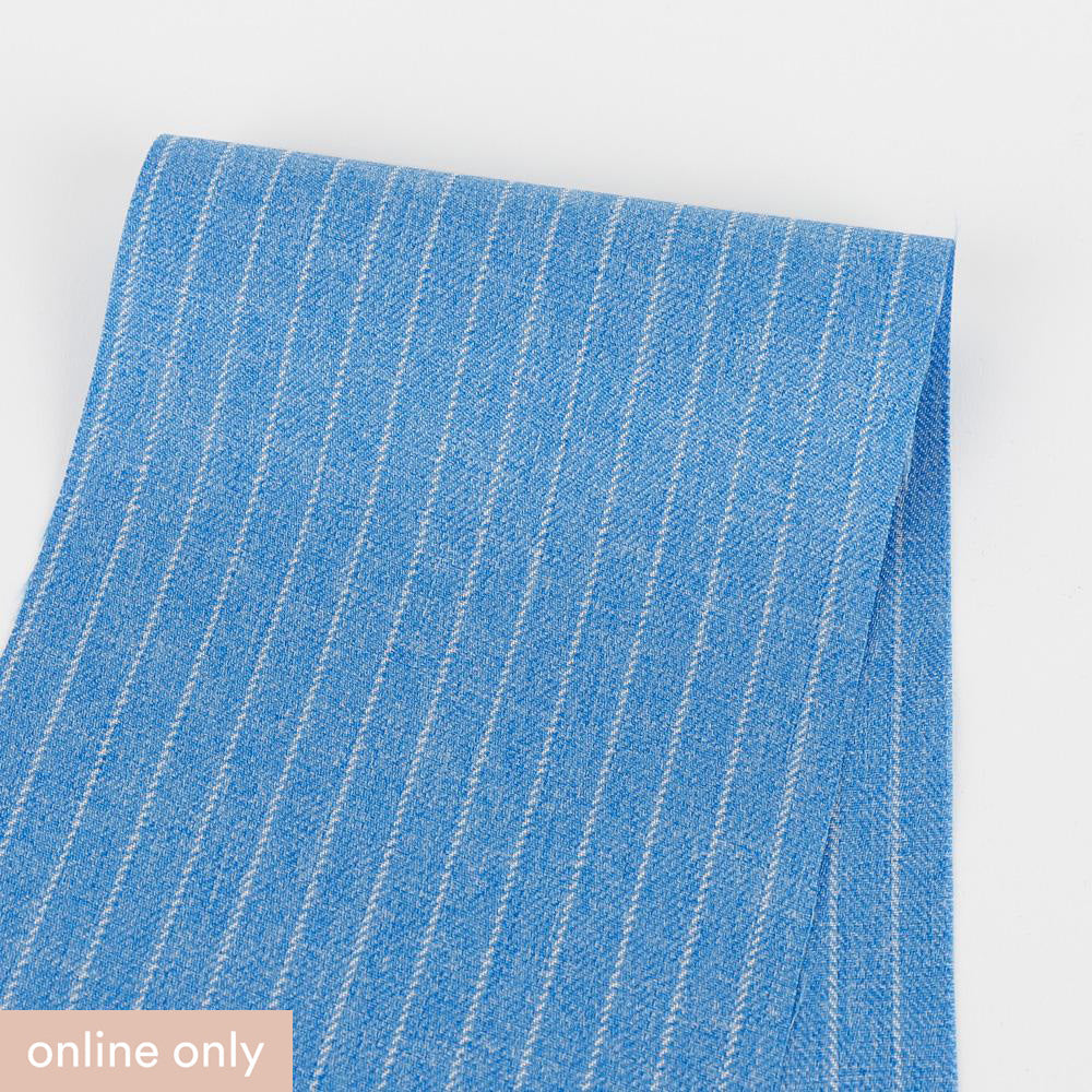 Pinstripe Suiting - Heathered Blue