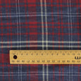 Brushed Cotton Plaid - Denim / Red - buy online at The Fabric Store