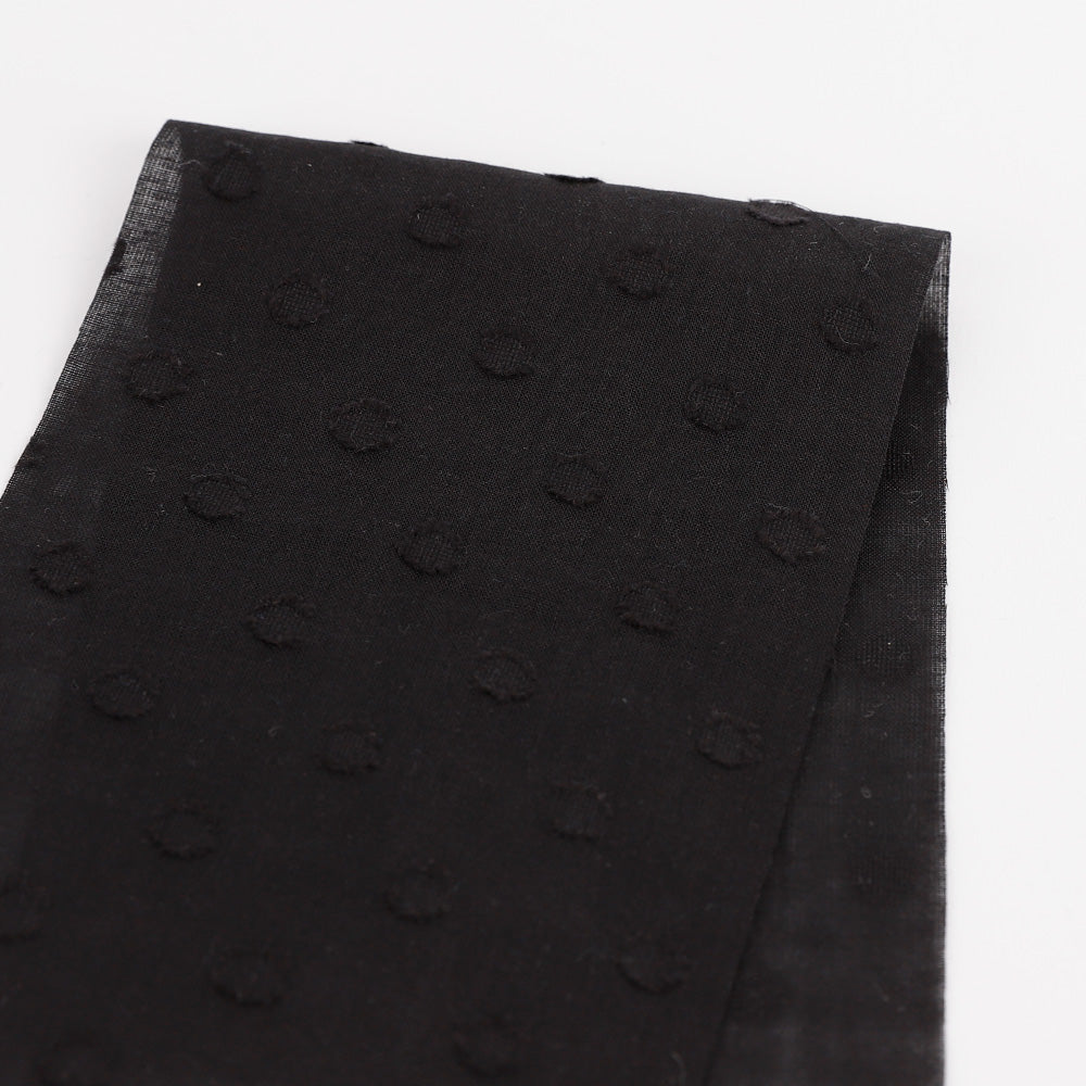 Polka Hail Spot Cotton - Black