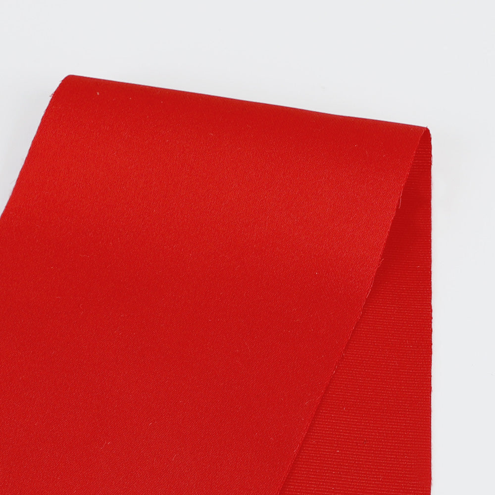 Heavyweight Poly Satin - Red