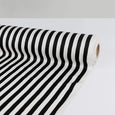Poly Satin Bengal Stripe - Black - Buy online at The Fabric Store