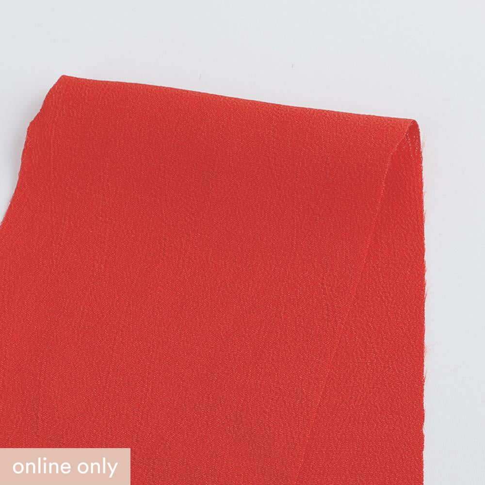 Rayon Crepe - Chilli - Buy online at The Fabric Store