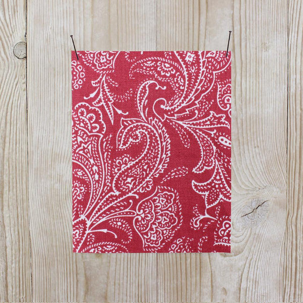 Related product : Paisley Linen Twill - Red