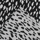 Reversible Animal Print Jacquard - Black / White - buy online at The Fabric Store