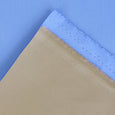 Bonded Cotton Mac - Sky / Camel - buy online at The Fabric Store