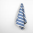 Bonded Awning Stripe Cotton - Blue / White / Forest - buy online at The Fabric Store