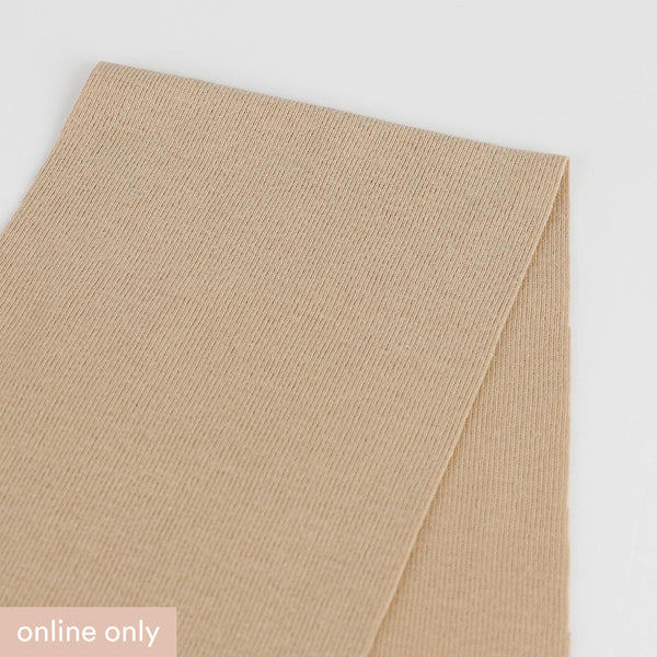 Cotton 1x1 Rib Knit - Crema - Buy online at The Fabric Store