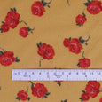 Small Rose Viscose Georgette - Dijon