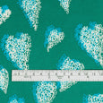 Scribble Heart Stretch Silk - Emerald