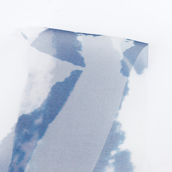 Broken Clouds Silk Organza - Blue