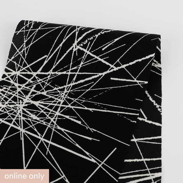 Related product : Scribble Print Stretch Silk - Black
