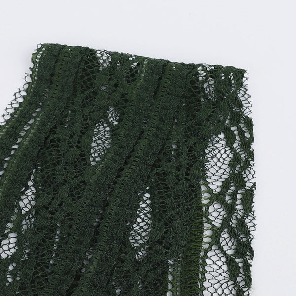 Soft Stretch Lace / Trim - Pine