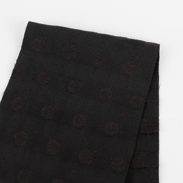 Spot Jacquard Cotton - Black