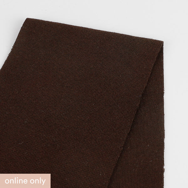 Stretch Cotton Double Jersey - Chocolate