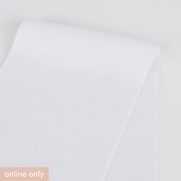 Stretch Cotton Double Jersey - White