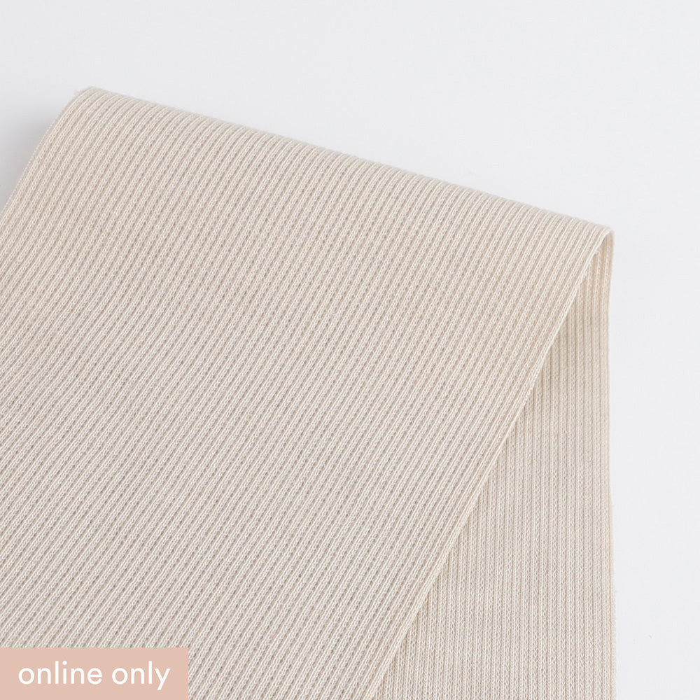 Stretch Cotton 2x1 Rib - Cashew
