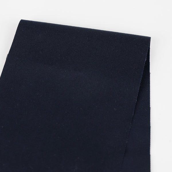 Stretch Cotton Twill Suiting - French Navy
