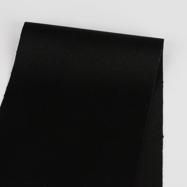 Stretch Cotton / Poly Sateen - Black