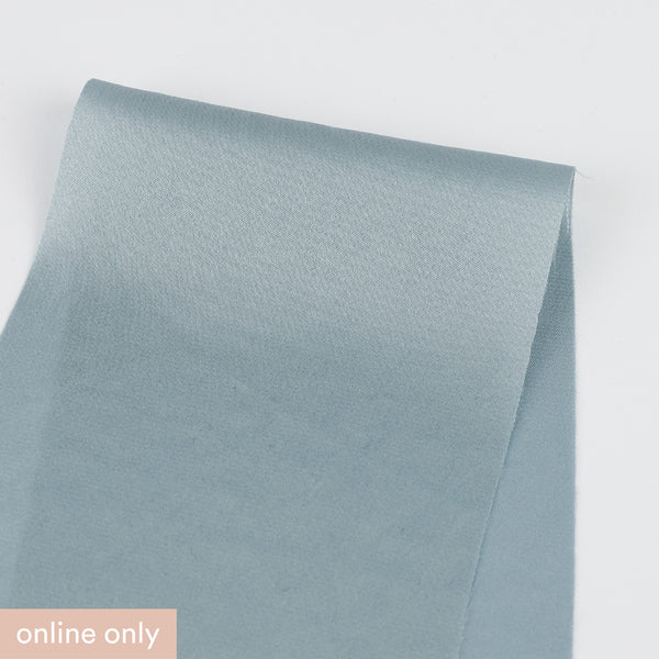 Stretch Satin - Dove Blue