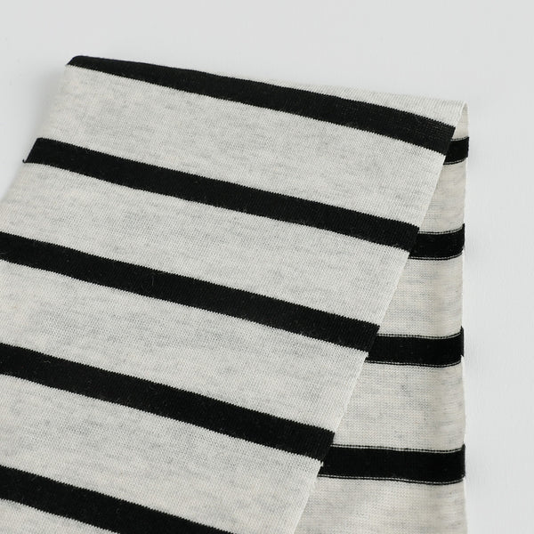 Breton Stripe Cotton Jersey - Polar / Black