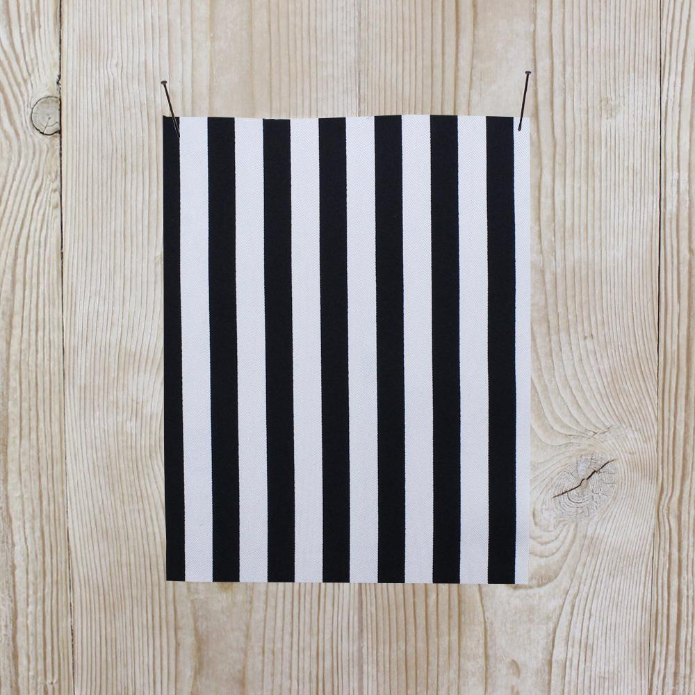 Bengal Stripe Silk Twill - Black - buy online at The Fabric Store