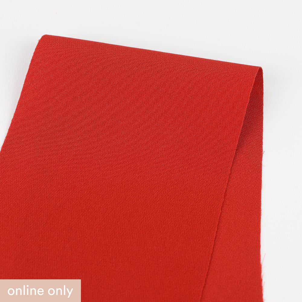 Double Layer Silk Georgette - Dusty Red