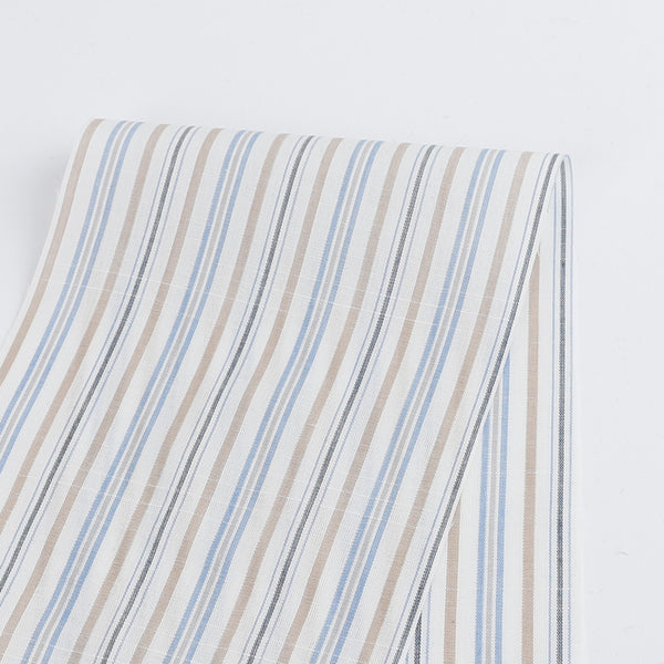 Sunday Stripe Cotton Shirting - buy online at the Fabric Store