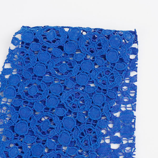 Textured Cotton / Nylon Lace - Blue - Buy online at The Fabric Store